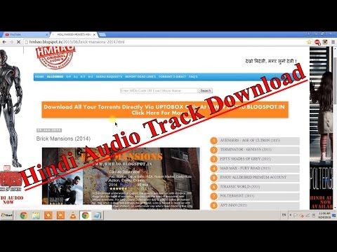 How to download Hindi Audio Track for Hollywood movies