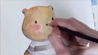 Big Bear & Bird's - Learn To Create Your Own Teddy Bear Watercolor