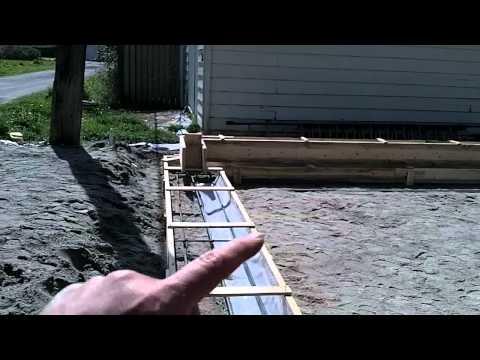 Garage Build Part 4 - Building forms for our concrete foundation
