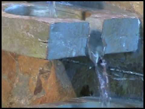 Video for Traverse Natural Slate with Copper Accents Floor Fountain