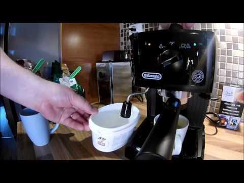 MAKING A CAPPUCCINO USING A DeLonghi EC151 ESPRESSO MACHINE AT HOME