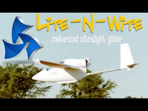 ultralight sailplane - http://www.wicksaircraft.com - Ultralight glider, motorized ultralight glider, Lite - N - Wite ultralight glider. Powered by a Rotax 28 HP single cylinder, f...