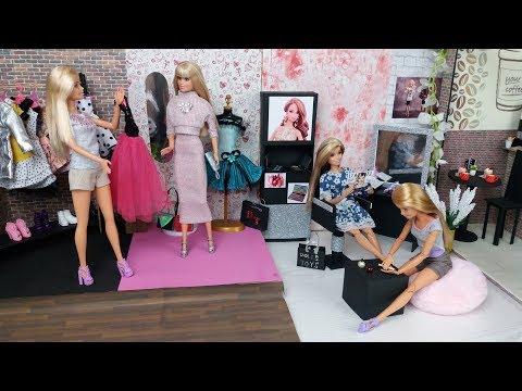 Barbie Hair Nail Salon. Doll's Clothes Shop.New Dress for Barbie Doll.