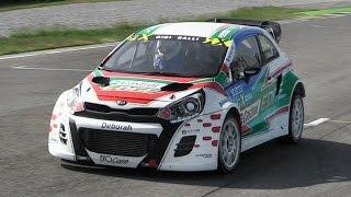 Gigi Galli' Kia Rio RX Supercar - Shakedown at Franciacorta Circuit