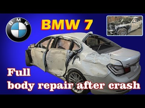 Video Of Auto Body Repairman Overhauling A Totaled