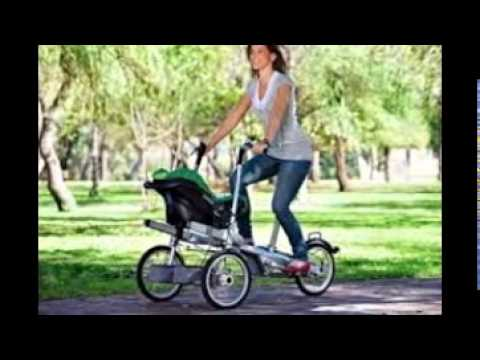 Veelar Children Bicycle Trailer Jogging Stroller Combo 2 in 1 Red ...