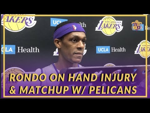 Video: Lakers Interview: Rondo on Hand Injury, South Bay Stint, & Matchup With Former Team, The Pelicans