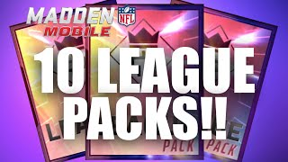 10 LEAGUE V LEAGUE PACKS! AWESOME PULL! - Madden Mobile 16, công phượng, u23 việt nam, vleague