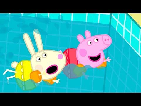 Peppa Pig en español - Canal Kids - Español Latino -  Episodios completos  Peppa Pig ¡A Nadar!  Pepa la cerdita