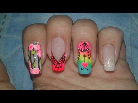 Decorados de uñas - Decoraciones de uñas ( Rosas, atrapasueños, mandalas, flores )