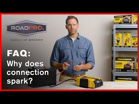Power Inverter FAQ #1 - Why is there a spark when cables are connected?
