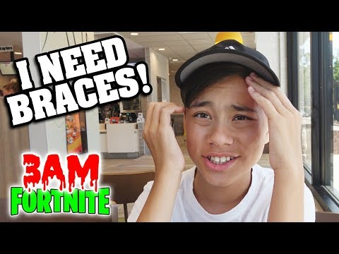 I NEED BRACES!!! Playing Fortnite Season 5 at 3AM! Dollar Store Slime & Office Tour Preview!!