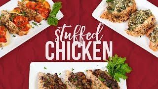 3 Stuffed Chicken Recipes! by The Domestic Geek