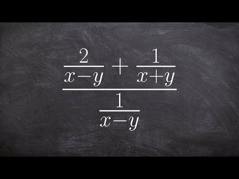 Multiplying by your LCM to divide two rational expressions