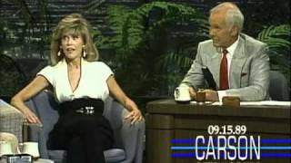 Jane Fonda Asks Johnny Carson About Zsa Zsa Gabor on Johnny Carson's Tonight Show