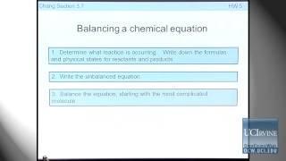 Preparation For General Chemistry 1P. Lecture 13. Chemical Reactions.