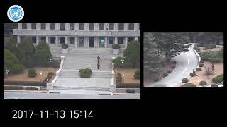 תיעוד: עריק מצפון קוריאה רץ אל הגבול, נורה ומחולץ על ידי חיילי הדרום