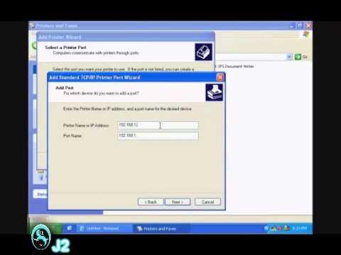 Setup Network Printer on Windows XP