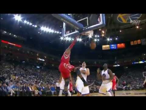 Josh Smith high post alley-oop pass to Dwight Howard