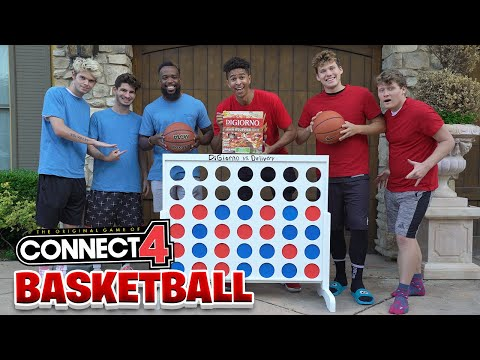 EPIC Giant 3v3 Basketball CONNECT 4 Game!