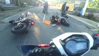 Video [35] Kecelakaan Motor di Tawangmangu | Crash Honda Verza and Yamaha Xabre MP3, 3GP, MP4, WEBM, AVI, FLV Desember 2018