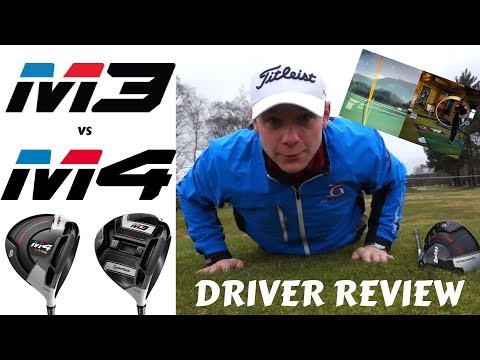 TAYLORMADE M3 v TAYLORMADE M4 DRIVER REVIEW. LAUNCH MONITOR & ON COURSE !