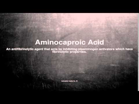 Medical vocabulary: What does Aminocaproic Acid mean
