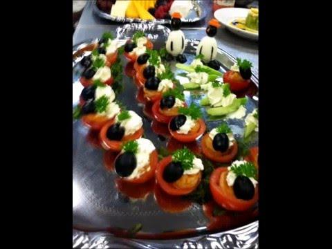 Cajun shrimp . stuffed tomatoes, cream cheese & ripe olives
