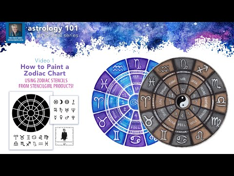 Episode 1: How to Paint a Zodiac Chart | Astrology 101 Art Journal Series with Kathryn Costa