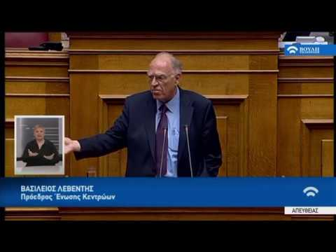 Β.Λεβέντης (Πρόεδρος Ένωσης Κεντρώων)(Προϋπολογισμός 2018) (19/12/2018)