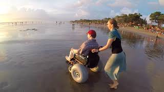 Beach wheelchair in Bali