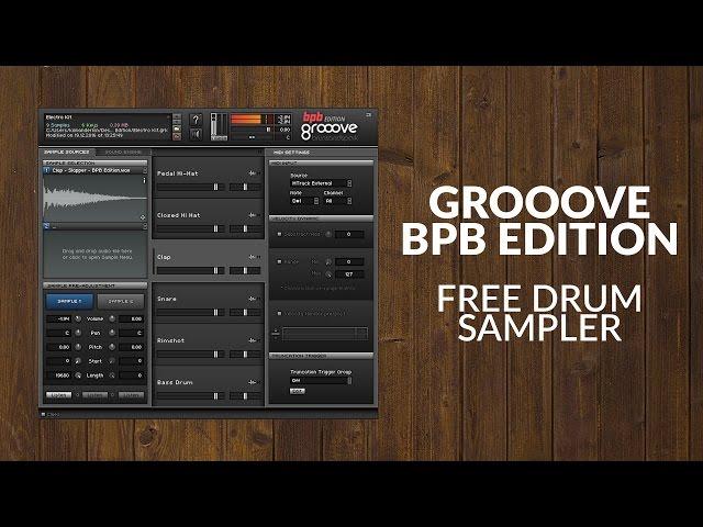 Grooove BPB - Free Drum Sampler (VST/AU Plugin)