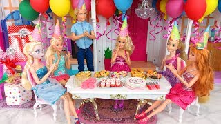Video Barbie doll Birthday Party Rapunzel Elsa Ken Pesta Ulang Tahun Boneka Barbie Festa de aniversário MP3, 3GP, MP4, WEBM, AVI, FLV September 2018