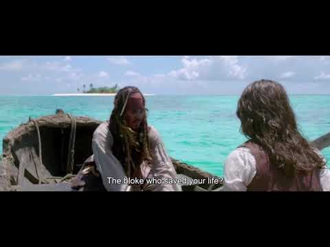Pairate's of the carribbean : jack sparrow and Elizabeth beach scene 🤣