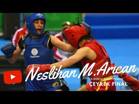 Neslihan Mollaoğlu Arıcan 14. Dünya Wushu Şampiyonası Kadınlar 56 KG Çeyrek Final performansı.