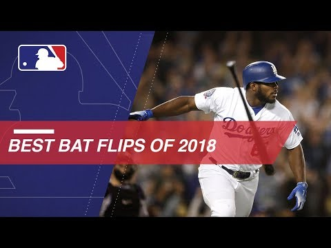 Check out 2018's most epic home run bat flips