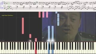 """Юность в сапогах """"Солдаты"""" (Ноты и Видеоурок для фортепиано) (piano cover)"""