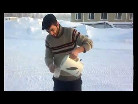 Soğuk havada sıcak su dökülürse (DENEY)