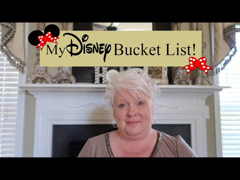 What's On My DISNEY Bucket List 2018...... Can I Do It???