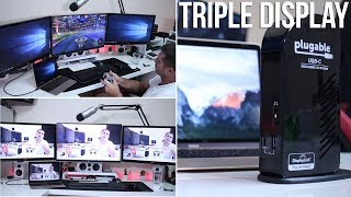 "Triple Display Docking Station: http://geni.us/PlugableTRIPLEToday we are connecting a MacBook Early 2016 to a Triple Display Setup using a Plugable Triple Display Docking Station.This Docking Station besides having the option to connect 3 displays, one of which up to 4K resolution also has a lot of connectivity.Enough to plug only one cable to our laptop and get all our accessories connected and have the laptop charged.My tests revealed that this docking station will be useful for someone that has a similar laptop to the MacBook and is looking for a Triple Display for Office Productivity. On the other hand for someone looking for a Gaming solution as we can see on the video and as expected this is not the solution.Hope you guys enjoy the videoRJ 👍MacBook Pro 15"" with a Triple Display Setup: https://youtu.be/P_Ct3nzQg4w ❇️ ❇️ ❇️ ❇️ ❇️ RELATED REVIEWS ❇️ ❇️ ❇️ ❇️ ❇️QTS 4.2: https://youtu.be/mkQAKkuJwBAINATECK DOCK: https://youtu.be/aLWj_b6dgE4TERRAMASTER D2-310: https://youtu.be/sBUXMv9DnwQQNAP TS 453: https://youtu.be/ZWdFs97lKiYQNAP TS 268: https://youtu.be/Uxhk7YldrAUASUSTOR AS 3102T: https://youtu.be/PAmYPsqTXi0THECUS N2810: https://youtu.be/pwrYaPVUvfATERRAMASTER F2-220: https://youtu.be/Nh117ity4eYTERRAMASTER D5-300: https://youtu.be/n5GKhgGVWagZYXEL 540: https://youtu.be/fZbSzAtJFmwKODI SERVER ON NAS: https://youtu.be/x0LdjM5ToFAWD EX2: https://goo.gl/pRHN8sWD EX4100: https://goo.gl/RHgWix◉◉◉◉◉◉◉◉◉◉◉◉◉◉◉◉◉◉◉◉◉◉◉◉◉◉◉◉◉◉◉◉◉◉◉◉◉◉◉◉◉◉◉◉◉◉◉◉◉◉◉◉◉◉◉◉◉◉◉◉◉◉Facebook: https://goo.gl/rCmcFZTwitter: https://goo.gl/LI299lInstagram: https://goo.gl/Y4pjLtVideohive: http://goo.gl/Sp6Wvr◉◉◉◉◉◉◉◉◉◉◉◉◉◉◉◉◉◉◉◉◉◉◉◉◉◉◉◉◉◉◉◉◉◉◉◉◉◉◉◉◉◉◉◉◉◉◉◉◉◉◉◉◉◉◉◉◉◉◉◉◉◉"