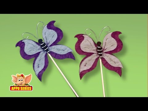 Arts && Crafts - How to Make a Butterfly Bookmark
