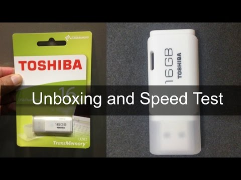TOSHIBA USB Flash Drive: Unboxing & Speed Test