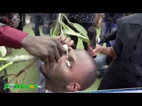 Pastor Lesego Pours Poison Sap In Eye Of Church Member For Healing From Shortsightedness