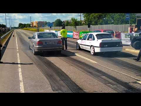 Rastblaster Tartu Drag Race BMW 540 Twin Turbo Vs Vectra Turbo