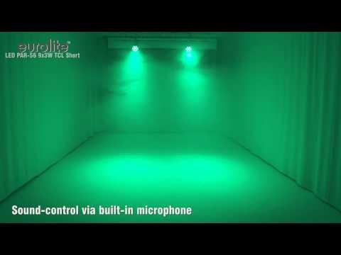 EUROLITE LED PAR-56 9x3W TCL Short