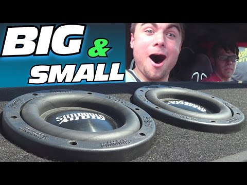 "BIG Subs & SMALL Subs W/ 2 15"" EMF Subwoofers & Two 6.5"" Sundown Audio Sub W/ SWAG Coaxial Speakers"