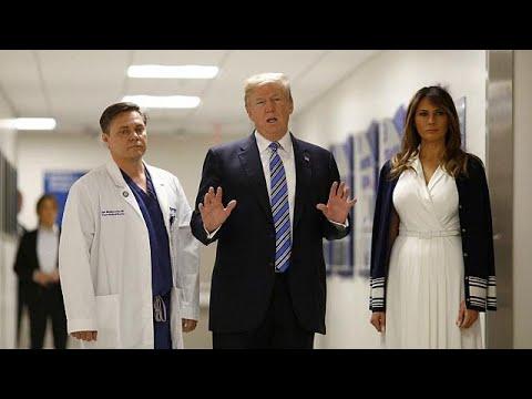 Ο Ντόναλντ Τραμπ δίπλα στους τραυματίες του μακελειού της Φλόριντα…