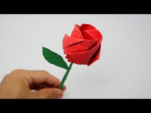 origami - How to make an origami Rose (Nakashima Rose) Designed by Jo Nakashima (12/feb/2013) Dedicated to Miyoko Sasaki Difficulty level: intermediate (only one trick...