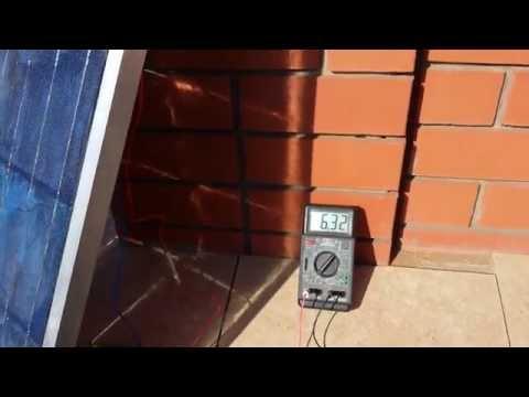 Тест №2 моей первой солнечной панели (видео)