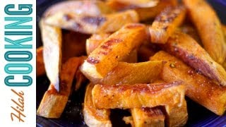 How To Make Sweet Potato Fries in the Oven | Hilah Cooking